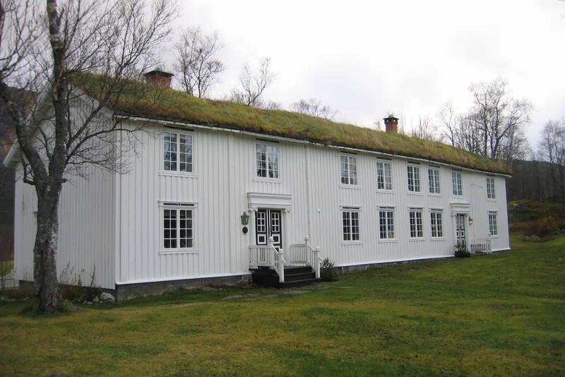 Hovedbygningen på gården Skånland
