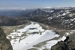 Utsyn mot Omnatjørn, øvre Myrdal, Gygrastol lengre bak - Foto: Anne Kari Walborg Enes