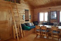 Sofakrok med stige til hems - Foto: