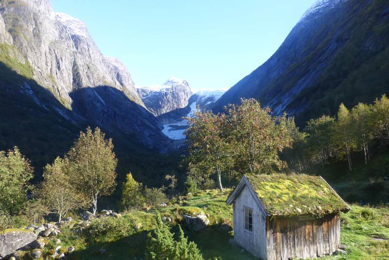 Utsikt fra Åbrekk setra mot Brenndalen.