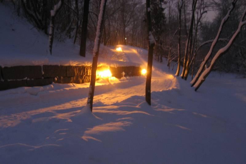 Stien blir også brukt om vinteren og i sene kveldstimer