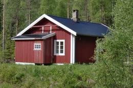 Ubetjent hytte. Vinger Finnskog. Finnskogen Turistforening - Foto: Ukjent