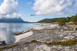Like etter at du er kommet ned til stranda ser det slik ut om sommeren. - Foto: Kjell Fredriksen