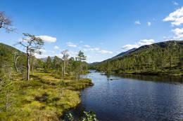 Vi nærmer oss Ankersvatnet - Foto: Kjell Fredriksen