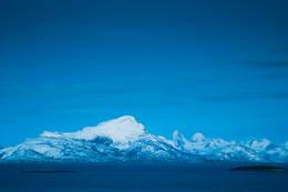 Utsikt østover fra Nes mot Tysfjord og Efjord -  Foto: Johannes Strand