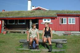 Pause ved Storerikvollen - Foto: Trondhjems Turistforening