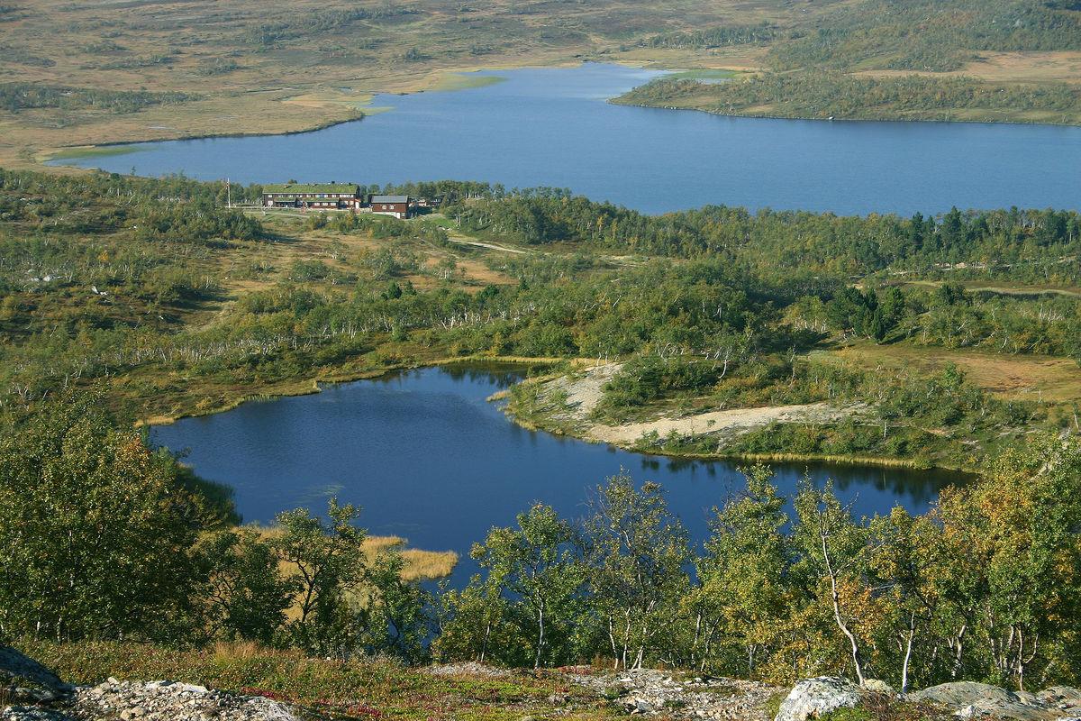 Utsikt mot Jøldalshytta