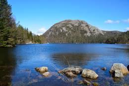 Longåsdalsvatnet, Vassnuten i bakgrunnen - Foto: Roald Årvik