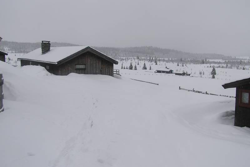 Svarthamar er lite besøkt på vinteren.