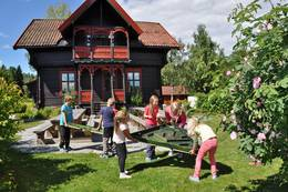 Samarbeid og lek på Sæteren Gård - Foto: Jan Kenneth Gussiås