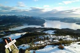 Utsikt frå toppen av Søljåsen -  Foto: Siri Nonslid