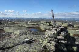 Toppvarden på Kvannfjølli -  Foto: Sissel Rohølhaugen