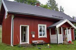 Ubetjent hytte. Varaldskogen. Finnskogen Turistforening - Foto: Åsmund Skasdammen
