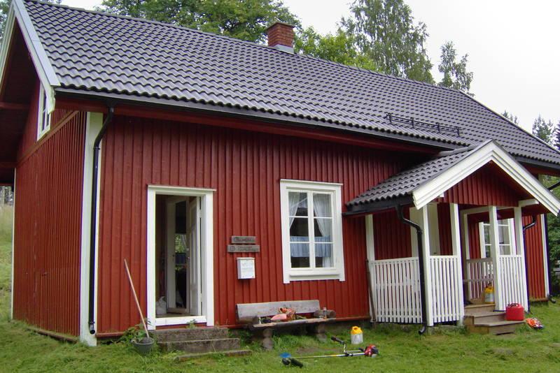 Ubetjent hytte. Varaldskogen. Finnskogen Turistforening