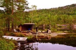 Gapahuken ved Rønnomsdalsvatnet. -  Foto: Rune Ness