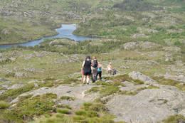 På vei ned - Foto: Haugesund Turistforening