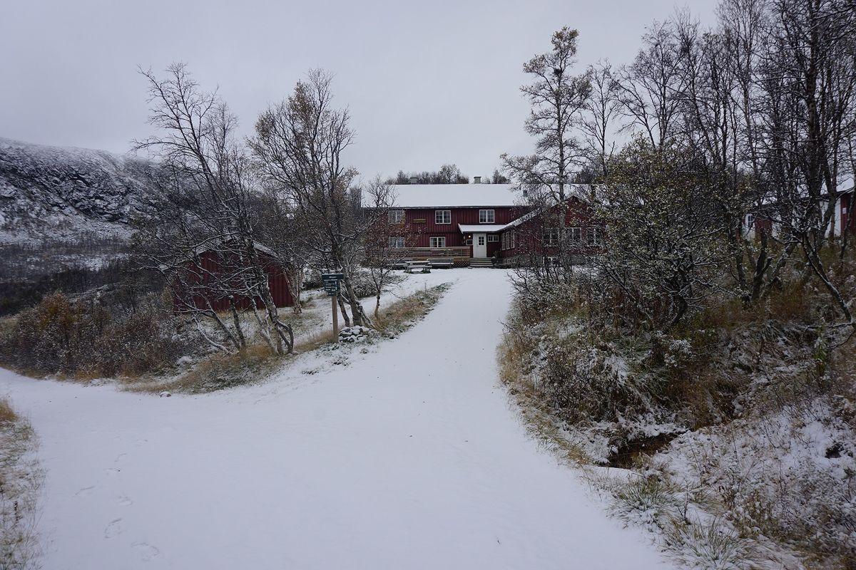 Vinter i anmarsj på Mogen.
