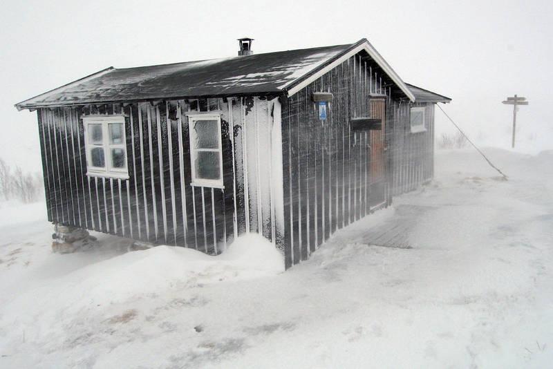 Vinterstorm ved Nonsbu