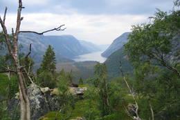 Innerste del av Tysfjord eller Hellemofjorden, her er Norge på sitt smaleste. - Foto: Sveinung Tubaas