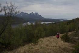 Flott utsikt på nedturen - Foto: Kjell Fredriksen