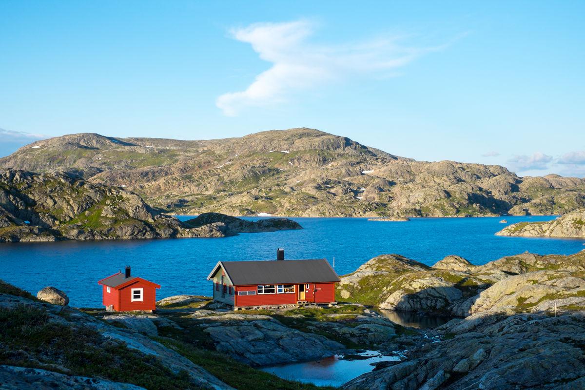 Sommer på Krossvatn.