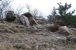 Gravrøysa ved toppen - Foto: Floke Bredland