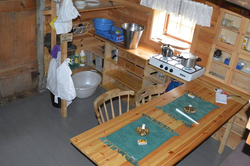 Kjøkkenkrok i fjøset