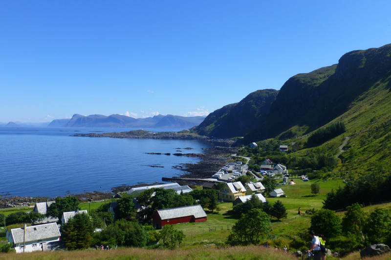Flott utsikt tilbake mot Goksøy