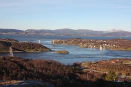 Utsikt mot Saltstraumen -  Foto: Ukjent