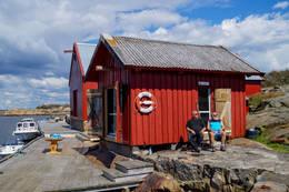 Fyrbua ligger mot Strømsund på Strømtangen