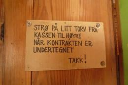 Klar beskjed på utedoen! Reinheim, Dovrefjell 27.juli 2010  - Foto: Lars Røstad