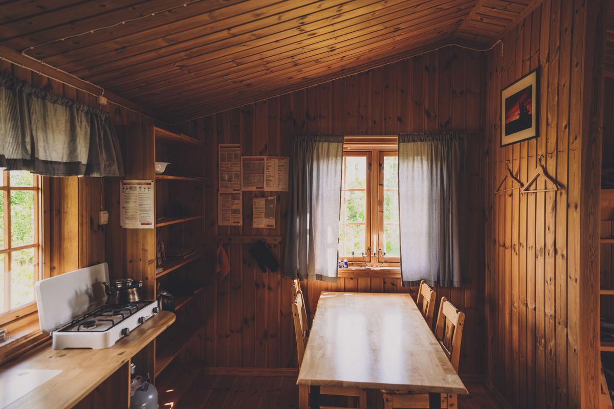 Kjøkkenet i sikringsbua