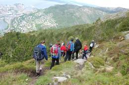 Fra 7-fjellsturen ned fra Ulriken - Foto: Torill Refsdal Aase
