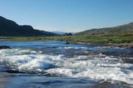 Vakkert elvelandskap ved Hadlaskard - Foto: Torill Refsdal Aase