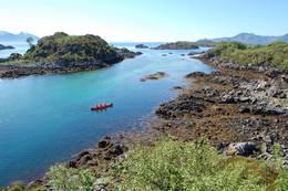 Fine forhold for kanopadling rett ved Guvåghytta - Foto: Willy Vestå