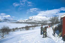 Ved Gjevilvasshytta - Foto: Trondhjems Turistforening