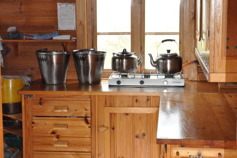 Kjøkkenkroken på Munkebu