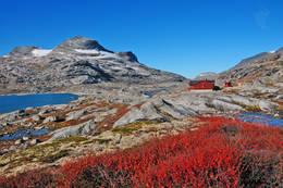 Veltdalshytta i september - Foto: Knut Jarle Gjerde