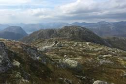 Utsikt mot Skafonnfjellet frå Høgenipa  - Foto: Anne Cecilie Kapstad