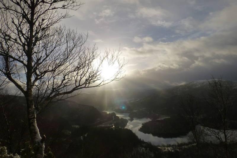 Utsikt fra Storåsen mot Flekkefjorden