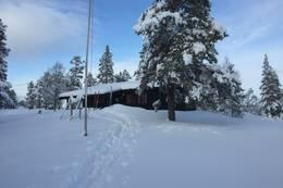 Vinter på Kvitfjellhytta - Foto: NTT