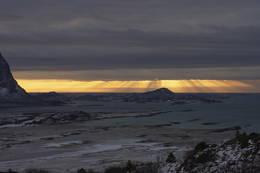 Solnedgang utenfor Nordskott - Foto: Paul Fortun