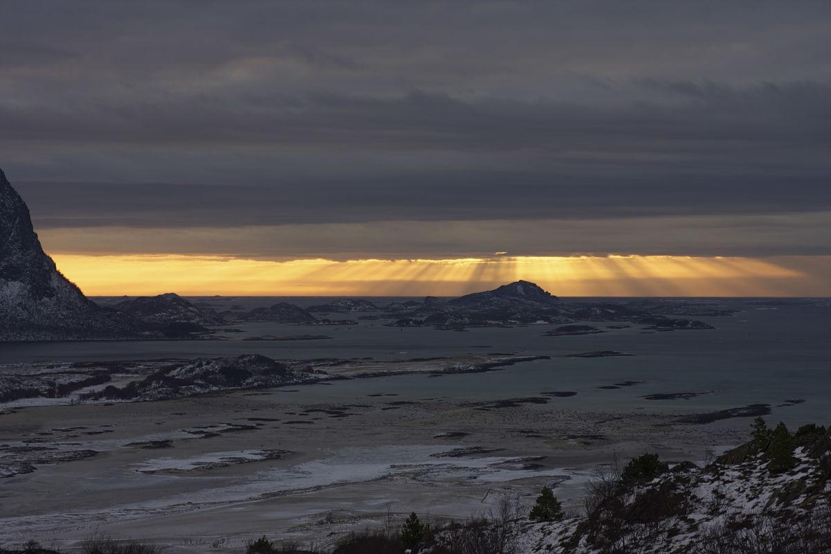 Solnedgang utenfor Nordskott