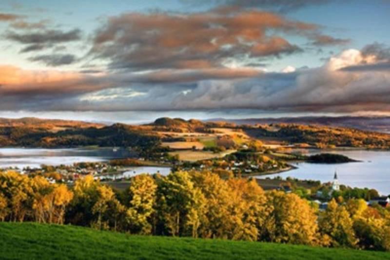Utsikt fra Øyna over Inderøy