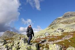 Lille Gaustakne er en lett tilgjengelig topp i høyfjellsmiljø. -  Foto: Ottar Kaasa