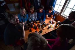 Kaffe i annekset - Foto: Hallgrim Rogn
