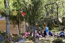 Ved Rømlingehytta -  Foto: Kurt Børge Nummedal