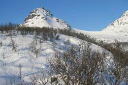 Nordskaret i vinterdrakt -  Foto: Bente Haukås