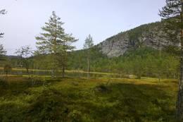 Turen starter ved Andersnattjern, som ligger 414 m.o.h. - Foto: Anne Marie Lobben