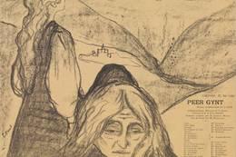 BUKKERITTET: Jotunheimens største kjendis er Peer Gynt, her illustrert med en fransk teaterplakat fra 1898 signert Edvard Munch. - Foto: Sigurd Rønningen